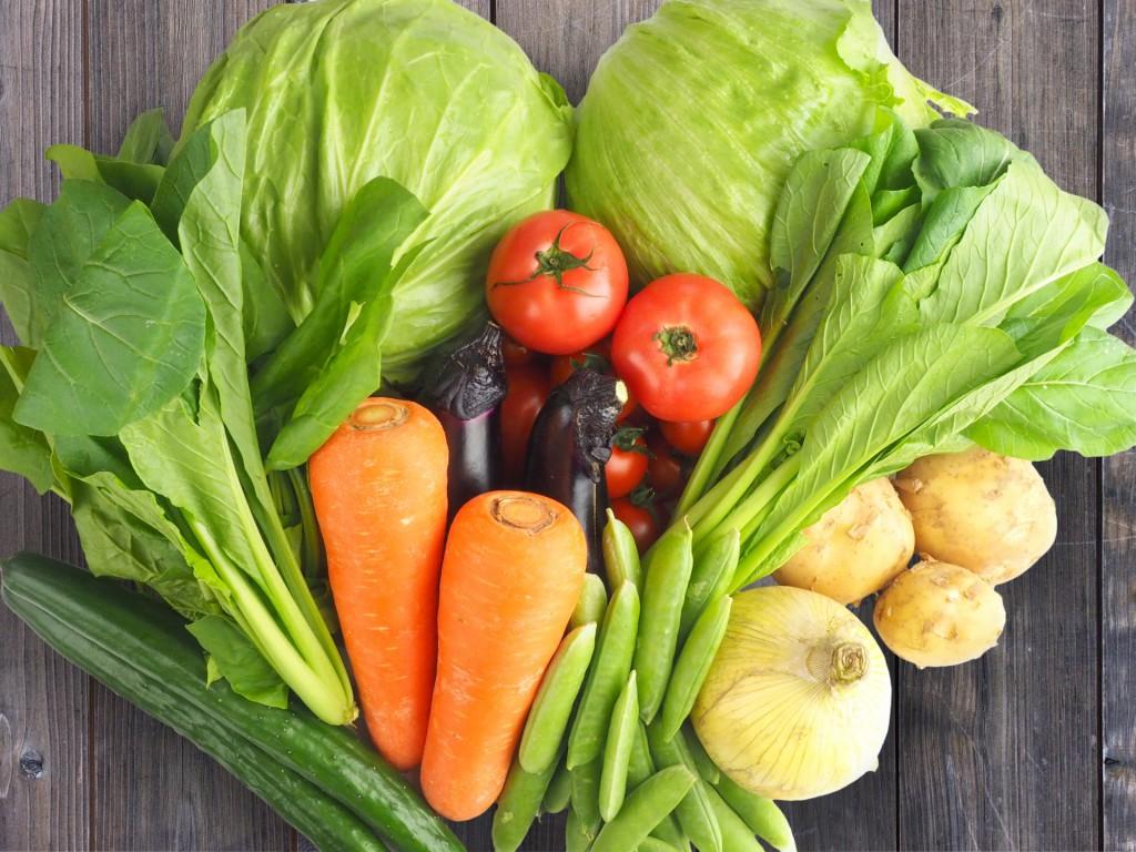 野菜で食物繊維を